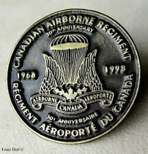 Canada Army Canadian Airborne Regiment 30th Anniversary 1968 - 1998 Lapel Pin