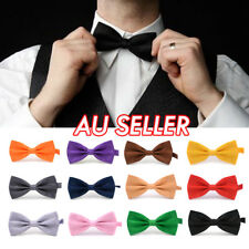 Mens Silk Tuxedo Formal Bow Tie Satin Wedding Party Pre Tied Bowtie Necktie Ties