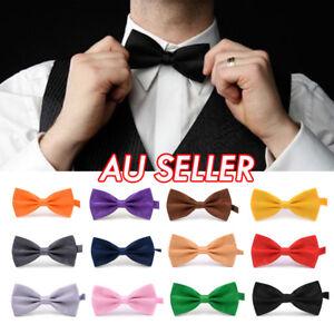 Mens Silk Tuxedo Formal Bow Tie Satin Wedding Party Pre Tied Bowtie Necktie Ties