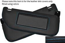 Blue stitch 2X pare-soleil en cuir peau recouvre fits citroen DS3 2009-2014