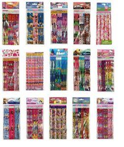 Girls Disney Cartoon Pencils Back to School Supplies Stationary 12 pieces