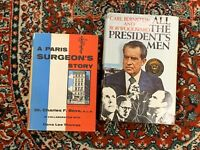 A PARIS SURGEON'S STORY BOVE 1956 1ST ED ALL THE PRESIDENT'S MEN BERNSTEIN 1974
