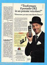 QUATTROR991-PUBBLICITA'/ADVERTISING-1991- OKI - TELEFONO PORTATILE VEICOLARE
