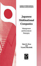 Japanese Multinational Companies (Series in International Business and Economic