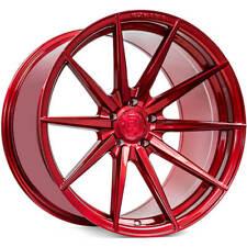 4ea 20x10/20x11 Staggered Rohana Wheels RFX1 Gloss Red Rims (S7)