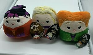 """Hocus Pocus 5"""" Squishmallow Sanderson Sisters New Set of 3 Mary Winifred Sarah"""