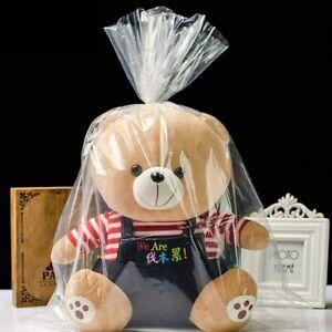 2 LARGE -XX HAMPER BAGS ONLY Cellophane Wrap & Heat Shrink Baby Wedding Mum