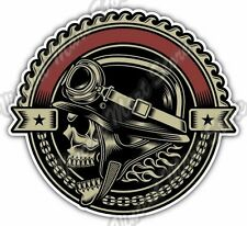 Vintage Biker Skull Chopper Bike Gift Idea Car Bumper Vinyl Sticker Decal 4.6""