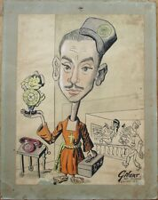 Cuban Telephone Co. 1950s ORIGINAL ART w/Priest Character/Operator - Cuba