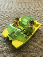 PLAYMOBIL Rare Paddle Boat With Slide; City Life - 2 Figures Included