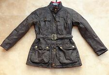 Next Girls Brown Coat with Warm Lining + Red Cord Collar Age 11-12 years