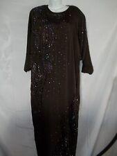 Ladies Size XL Vintage Heavily Jeweled 80's Kimono Style Top Fancy Dress Dresses