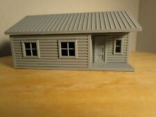 """(1) """" S """"  SCALE  LOG CABIN  or  ONE STORY HOUSE  3D  PRINTED L@@K"""