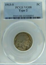 1913 S Buffalo Nickel Type 2 VG08 (4 digit date and partial horn)