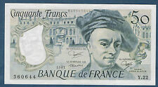 FRANCE - 50 FRANCS QUENTIN DE LA TOUR Fayette n° 67.7 de 1981 en SUP Y.22 560644