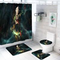 Harley Quinn Bathroom Rug Shower Curtain 4PCS Bath Mat Toilet Lid Cover Mat 4PCS