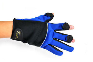 Thincked Fishing Gloves Mitts 3 Fingers Out Antiskid waterproof outdoor