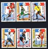 Fútbol Somalia (27) serie completo 6 sellos matasellados