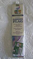 """New listing Mini Flag 'Garden Scene' 11X15"""" *New In Package*"""