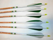 6 Carbon Express Heritage 150 Traditional Recurve Archery Arrows w/ Feathers