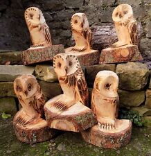 Chainsaw Carved Owl Ornamental Garden Patio Feature Sculpture Wood Wooden