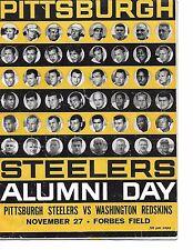 1960 Pittsburgh Steelers-Redskins Program Steelers Alumni Day NICE!!