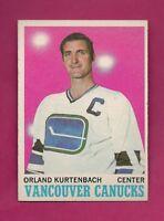 1970-71 TOPPS # 117 CANUCKS ORLAND KURTENBACH  NRMT-MT CARD (INV# A4278)