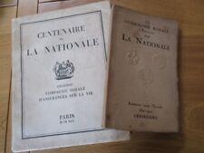 COMPAGNIE ROYALE D' ASSURANCE LA NATIONALE X2 CENTENAIRE 1930 2500 EX