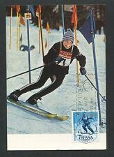 SPAIN MK 1964 OLYMPIA OLYMPICS SKI SLALOM CARTE MAXIMUM CARD MC CM d8563