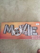 Movie Silver Wall Sign Theater Media Plaque Room Movie Night Wall Decor