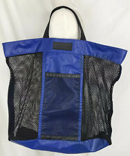 Eddie Bauer PVC Mesh Tote Handbag Beach Bag Blue Black XL