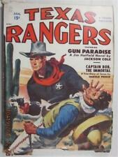 TEXAS RANGERS PULP JAN 1951 JACKSON COLE JIM HATFIELD CAPTAIN BOB THE IMMORTAL