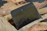 CREDIT CARD HOLDER WALLET MENS GENUINE LIZARD BLACK MA LEATHER SPAIN AMALFI 13