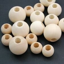 Natural Wood Large Hole Wooden Beads for Macrame European Charms Crafts 10-40mm