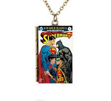 Creative Miniature Cartoon Book Rebirth Superman TINY Book Pendant Necklace