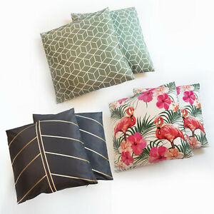 SCATTER CUSHIONS TWIN PACK PATTERN PRINT WATER RESISTANT GARDEN PILLOW