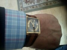 VINTAGE GENTS SWISS G.P. NEWMARK SQUARE WATCH SERVICED OILED MINT CONDITION