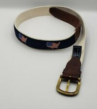 New listing State Traditions Men's Belt 36 Cloth Leather American Usa Map Flag Patriotic