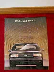 CHEVROLET IMPALA SS 1996 NEW GM SALES BROCHURE 9 PAGES
