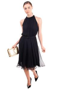 RRP €2530 RALPH LAUREN PURPLE LABEL COLLECTION Silk Blouson Dress Size 4 / S