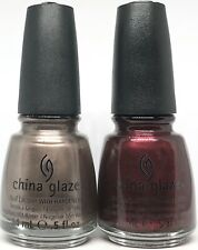 china glaze nail polish Cords 731 + Short & Sassy 731 Taupe Silver Dark Wine Red