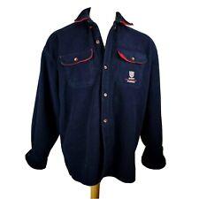 Gant Rugger Fleece Jacket Size Large USA Button Front Shirt Coat