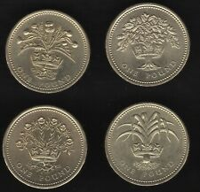 More details for 1989-1992 uk one pound coin set | british coins | pennies2pounds