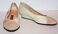 Jack Rogers Melange Bone Ombre Leather Small Wedge Women's Size 9N Ship FREE USA