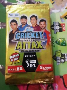 TOPPS Cricket Attax IPL 2016 Packs x10