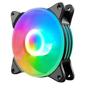 COOLMOON 12cm Chassis Cooling Fan 5 Colors LED Lighting Large 4Pin Heatsink