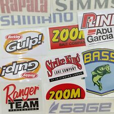 A bunch of Fishing Decals wholesale  lot of 13 stickers