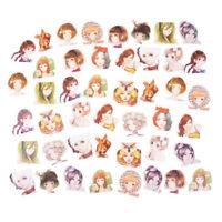 45Pcs/box Kawaii Girl Paper Stickers Diary Decor Scrapbooking Christmas Gift HF