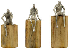 Skulptur Holz Aluminium modern, 3 Modelle