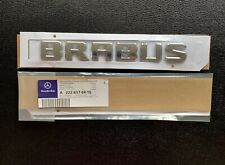 Brabus Rear Badge Emblem Decal Sticker Boot Trunk Tailgate Logo Mercedes 🇬🇧